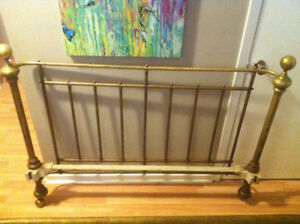 Antique All Brass Queen Bed For Sale
