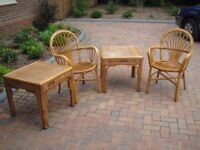 Rattan Chairs and Side Tables