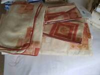 Curtains and cushion covers & tie backs