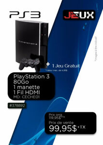 378892....CONSOLE PLAYSTATION 3........$99.95