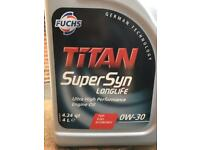 FUCHS TITAN SUPERSYN LONGLIFE 0W-30 OIL 4 litres