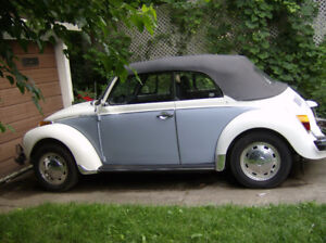 1978 VW Super Beetle Convertible