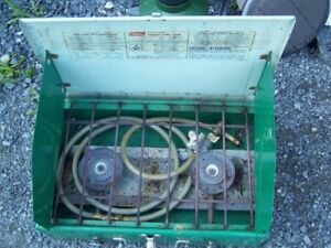 TWO-TONE GREEN COLEMAN STOVE ONLY - NO HOSE
