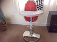 Bloom high chair - needs silver touching up