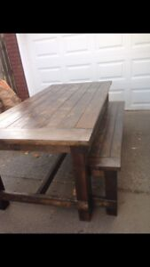 New Farmhouse Table and Bench