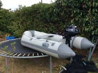 AS NEW RIB BOAT AND NEW 4 STROKE ENGINE