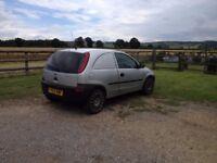 'The Silver Fox' Vauxhall Corsavan 1.7Di for sale. 12 months MOT, 77000 genuine miles