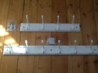 White Coat Hook Rack/Rail