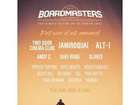 3 Boardmasters music festival tickets