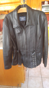 Womans large leather jacket