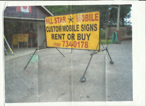 Mobile Sign for sale