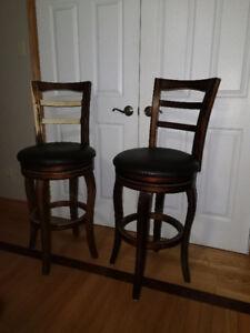 Bar Stools, Swivel, wooden