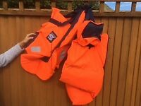 Two adult life jackets