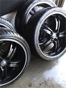 "^** 20"" OZ RACING BLACKED OUT WITH TIRES !!"