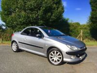 PEUGEOT 206CC CONVERTIBLE 1 YEARS MOT LEATHER SEATS LOW MILEAGE RUNS AND DRIVES GREAT BARGAIN!!!