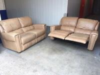 Genuine leather 2xs recliner sofas •free delivery