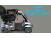 Mobility Scooter Wanted Non Runners / Damaged will collect for Free