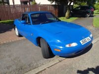 Mazda Mk1 Eunos (MX5), 1992, mariner blue, great condition all-round.