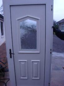 UPVC EXTERIOR DOOR WHITE COMPLETE