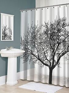 Brand new Waterproof Shower Curtain With Black Tree Design