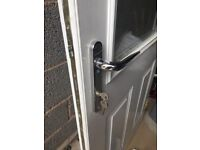 White Composite Door with Keys, Plate & Hinges only £100