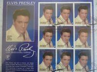 Album of Elvis Presley commerative stamps