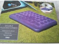 Double Flocked Airbed Camping Mattress Navy