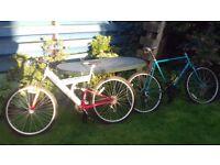 Two Good Condition Mountain Bikes, one with monoshock suspension.