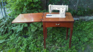 Vintage SINGER Sewing Machine, Built-into-Table
