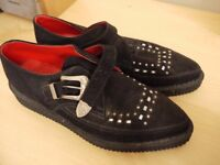Men's black suede creepers size UK 8