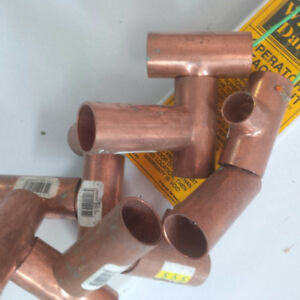 Copper pipes, connectors and Ts
