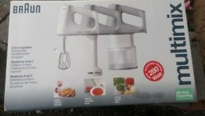 Braun 3-in-1 multimix system. Mixer, Blender, Chopper