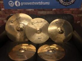 Full set of Turkish hand made cymbals