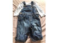 Boots mini club 0-3 month dungarees