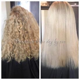 Keratin Brazilian blow dry mobile hair beautician