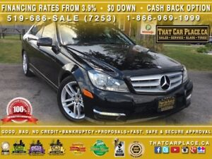 2013 Mercedes-Benz C-Class C300-4MATIC-Leather-Bluetooth-Heated