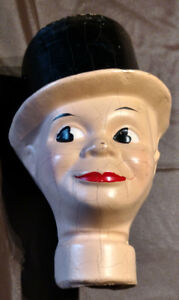 Charlie MaCarthy Composition Puppet Head by Reliable Canada