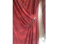 Wrap-style dress, size 12