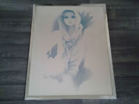 Large Retro Sara Moon Framed Print (Susan).