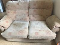 Sofa (2 sits) very comfortable and soft; material