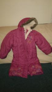 vêtements manteau fille rose 4 ans