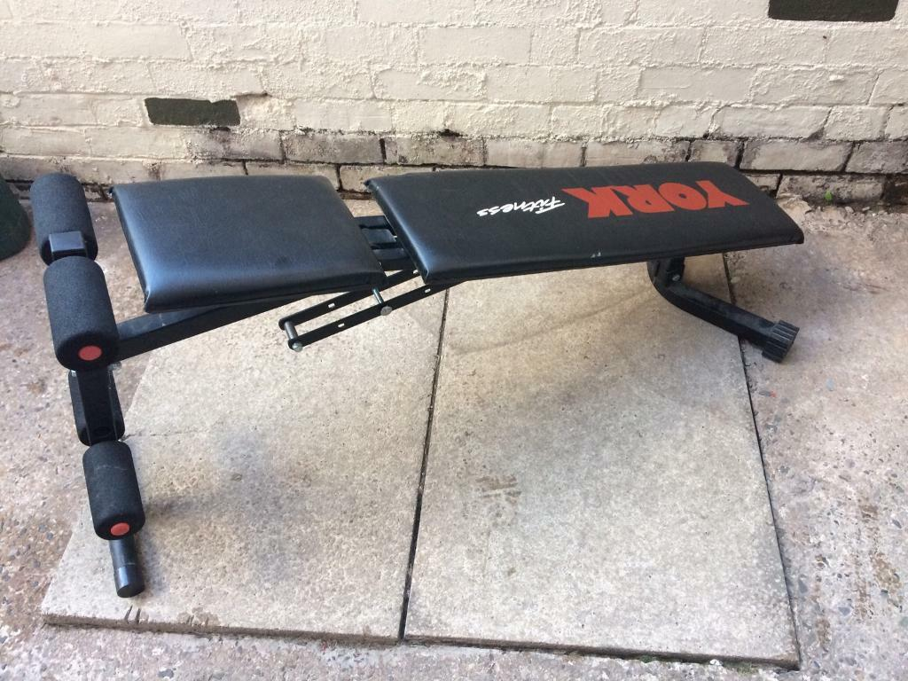 york incline decline bench. york incline/ decline fly press bench and twist lock bar. image 1 of 4 incline