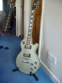 Guitar - Epiphone - Les Paul Custom Pro - limited edition - grey,with bag and stand