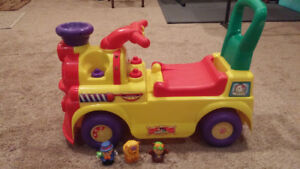 Child's Ride-On Train with characters