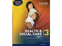 BTEC Level 3 National Health and Social Care: Student Book 1 - Level 3 - Student resource book