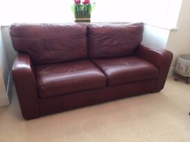 Marks and Spencer soft Leather Sofa