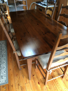 Harvest Table with 6 Chairs-$1000 OBO
