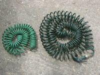 2 anti kink garden hoses