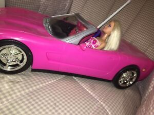 PINK BARBIE CORVETTE CAR