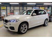 BMW X5 XDRIVE30D M SPORT [SAT NAV / REAR CAM / 7 SEATS] (mineral white) 2015